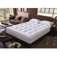Wholesale Elastic 100% Polyester Hotel Mattress Topper King Size / White Mattress Protector from china suppliers