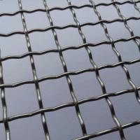 China Security Metal Lock Crimp Wire Mesh Woven Galvanized With Square / Rectangular Openings on sale