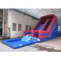 China Kids Parties Commercial Inflatable Pool Slides with 0.55mm pvc tarpaulin material from Sino Inflatables on sale