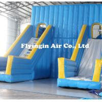 China Big Pvc Inflatable Double Water Slide with Blower for Outdoor Game on sale