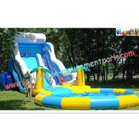 Wholesale Huge Rent Commercial Inflatable Slide, Blue Sport Water Slide Pool For Adults from china suppliers