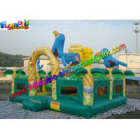 Wholesale Elephant Commercial Bouncy Castles , Bouncy Castles House With Fully Printing from china suppliers