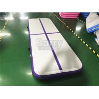 Wholesale Outdoor Small Portable Kids A Purple Air Track Gymnastics Mat For Body Building With Carry Bag from china suppliers