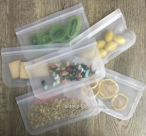 Buy cheap FDA PEVA Reusable Snack Storage Bag Airtight Seal Fresh-keeping Sandwich Food from wholesalers