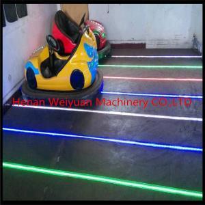 China amusement park manufacturer 2 seats led bulbs on steel floor bumper car on sale