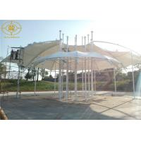 PVDF  Membrane Structure Construction Hot Dip Galvanized Steel For Landscape