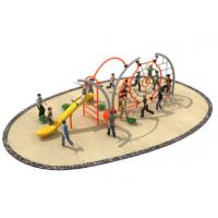 China 710*350*250cm Rope Climbing Playground Equipment Middle Size With Slide TQ-TN504 on sale