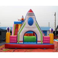 Wholesale Kids mobile car design inflatable bouncer fun city amusement park from china suppliers