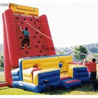 Wholesale Fire - retardant 0.55mm PVC Inflatable Climbing Wall YHCW 009 with 1500W CE / UL Blower from china suppliers