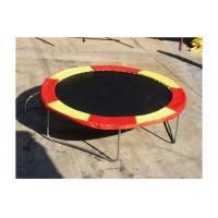 China Fitness Single Person Trampoline 12 Mm Thickness PVC Fabric UV Resistant on sale