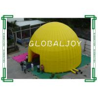 China Advertising Air Dome Large Inflatable Tent , Yellow Inflatable Canopy on sale