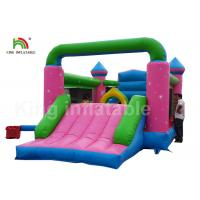 China Durable PVC Pink Princess Inflatable Commercial Bounce Houses For Kids Outdoor Activites on sale