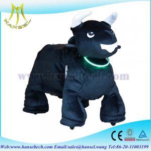 Wholesale Hansel ufo catcher plush animals motorized plush riding animals from china suppliers