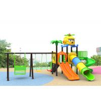 China Small Plastic Outdoor Play Children Park Toys Green Color 10 Kids Capacity With Slide on sale