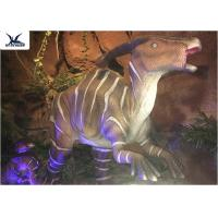 Indoor Decorative Realistic Dinosaur Models With Head Moving Up And Down