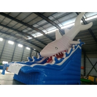 China White Shark 5×8M Commercial Inflatable Water Slides on sale