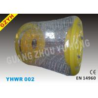 Wholesale 0.9mm / 1.0mm Yellow PVC Inflatable Water Roller / Walker YHWR 002 from china suppliers