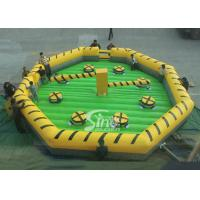 Customized challenge outdoor inflatable meltdown game with rotative machine for kids