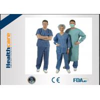 China Nonwoven Disposable Scrub Suits for Patient Doctors Nuser With Short Sleeve on sale