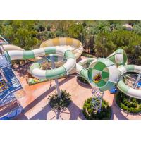 Wholesale Outdoor Thrilling Aquaslide Fiberglass Pool Slide Tantrum Valley Customized Size from china suppliers