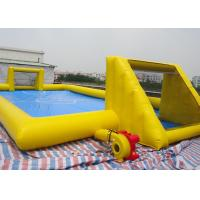 Buy cheap Inflatable Soccer Game / football Field Sports Equipment With 0.45mm - 0.55mm from wholesalers