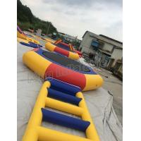 China PVC Inflatable Water Parks / Inflatable Water Trampoline And Slide For Family on sale