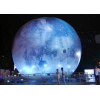 China Globe Helium Balloon Printing Inflatable Moon Balloon LED light Planet Earth on sale