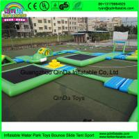 Quality Custom design outdoor adults giant inflatable floating water park for open water for sale