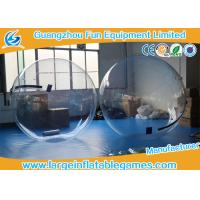 China Summer water games PVC / TPU Inflatable Water Zorb Ball with Customized Color / Size on sale