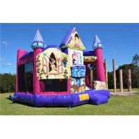 China Brightly Color Disney Princess 5 In1 Combo Jumping Castle For Amusement Park on sale