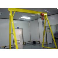 China Mobile 5 Ton Single Beam Gantry Crane Electric Hoist With Hook For Cargo Lifting on sale