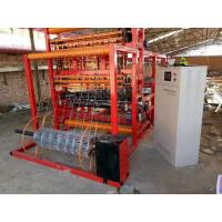 Wholesale Zinc Aluminum Coating Fence Making Machine , Solid Lock Fixed Knot Deer Fence Machine from china suppliers