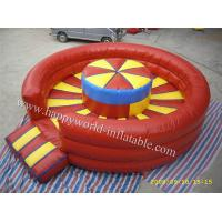 China inflatable bull riding machine , inflatable mechanical bull mattress , inflatable red bull on sale