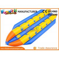 Wholesale 0.9mm PVC Tarpaulin Inflatable Banana Boat / Inflatable Water Toys from china suppliers