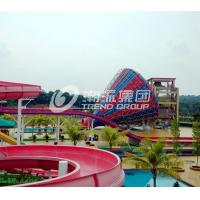 China Large Fiberglass Water Slides 304 Stainless Steel Screw Funny Water Slide on sale