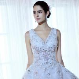 Wholesale Luxury Beaded Rhinestone wedding dresses , women tulle puffy wedding dresses from china suppliers