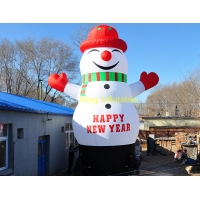 China 210D Oxford 3m Inflatable Christmas Products Backyard Snowman on sale