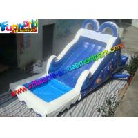 Wholesale Commercial PVC Tarpaulin Blue Kids Water Slide Inflatable Water Game Toys from china suppliers