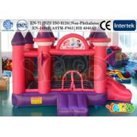 China Waterproof Princess Inflatable Moon Bounce House Castle With HR4040 EN71 PVC on sale