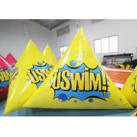 Quality Triangle 2.5m Inflatable Marker Buoy Hot Air Welding UV Resistant for sale