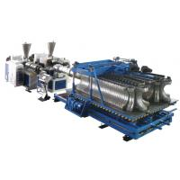 Wholesale HDPE / PP / PVC Horizontal Plastic Pipe Production Line For Double Wall Corrugated Pipe from china suppliers