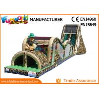 Wholesale Indoor Or Outdoor Mega Inflatable Assault Course With Digital Painting from china suppliers