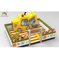 China 10 m x 8 m Yellow Inflatable Amusement Park Forklift Theme Jumper Bounce House For Kids Party on sale