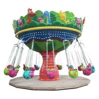 Animal Shape Flying Chair Ride 16 People Running Diameter 7.5m Height 5m
