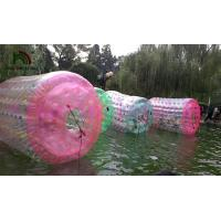 China Colorful Inflatable Water Toy , Human Size Inflatable Water Roller Ball on sale