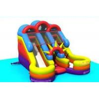 Wholesale Inflatable Pool Slide For Children , 0.55mm PVC Leather Customized Commercial Water Slides from china suppliers