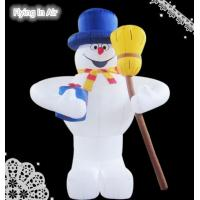Wholesale 3m Height Sweeping Inflatable Snowman for Outdoor Christmas Decoration from china suppliers