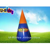Wholesale 2 Meter Height Air Tight  PVC Doritos Shape  Inflatable Paintball Bunker from china suppliers