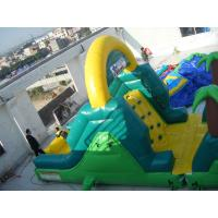Cartoon Obstacle Course Inflatable Sports Games With Tunnel N Climbing Wall