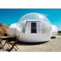 White Double Inflatable Bubble Camping Tent HD Printing Oxford Cloth Material